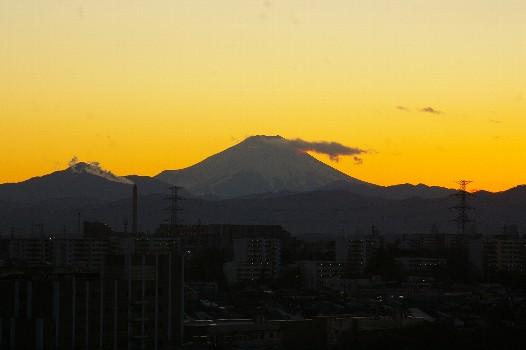 富士夕焼ける