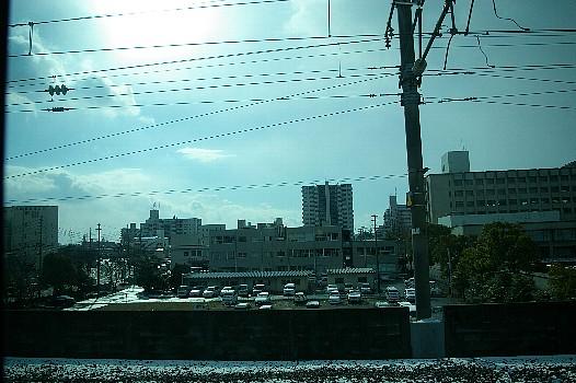 雪の佐賀駅前