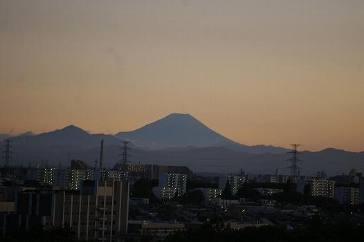 夏の夕焼け富士