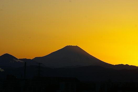 冬の夕富士A
