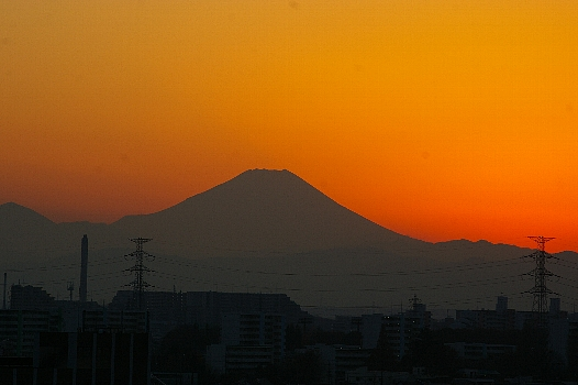 師走の夕富士2