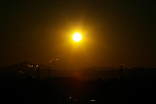 Iダイアモンド富士近く