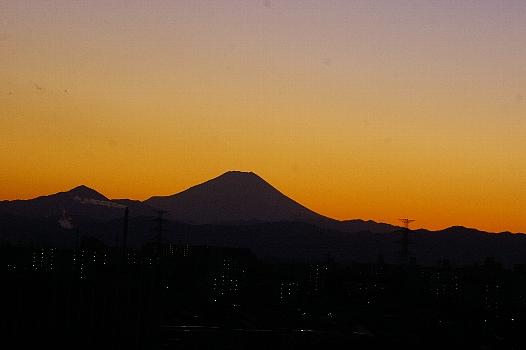富士の夕景C