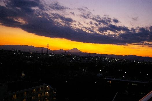 妖しき富士の夕景