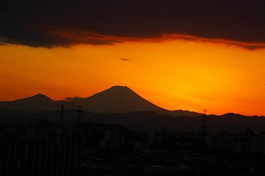 そして夕焼け富士