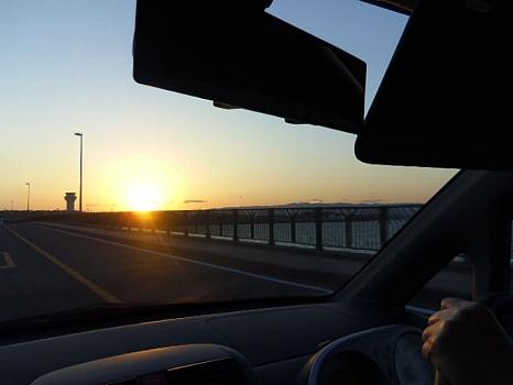 大村湾の夕陽