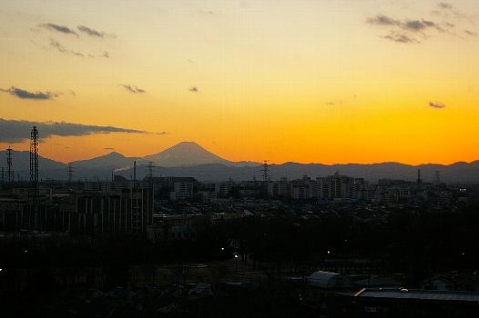 節分の夕焼け富士2