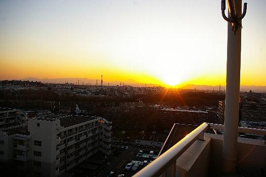 立春富士の夕焼け2