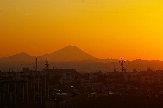 立春富士の夕焼け3