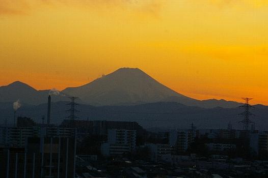 冬富士夕景
