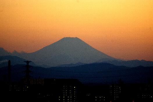 夕焼け富士3.15