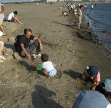 葛西臨海公園で海水浴