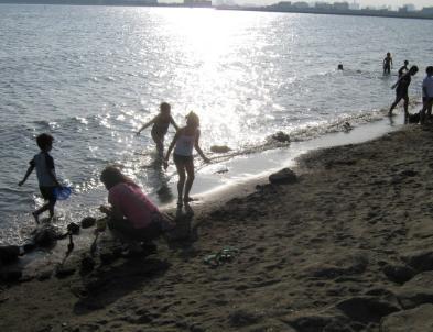 葛西臨海公園で海水浴だね