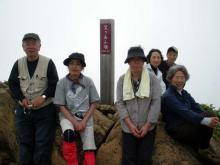 花の百名山 「笠ヶ岳」 山頂1
