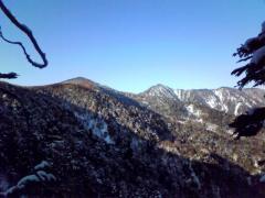 四郎岳と燕巣山(つばくろすやま)
