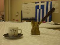 ギリシャコーヒーをつくる「ブリキ」といいます
