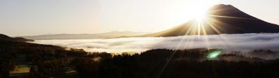 羊蹄山 朝日