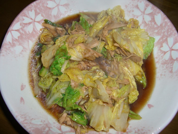 白菜とツナカンの炒め煮