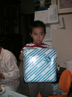 12日にばあちゃんからもプレゼント