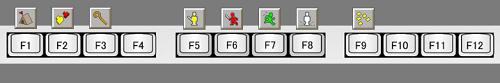 ファンクションキーとアイコンの関係図