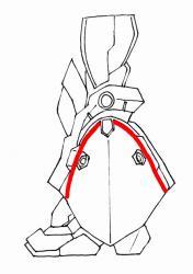 脚部側面図