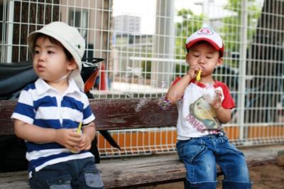 心クンとしゃぼん玉 20090703