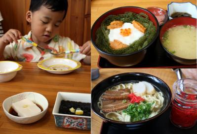 海ぶどう丼と沖縄そば 20100520