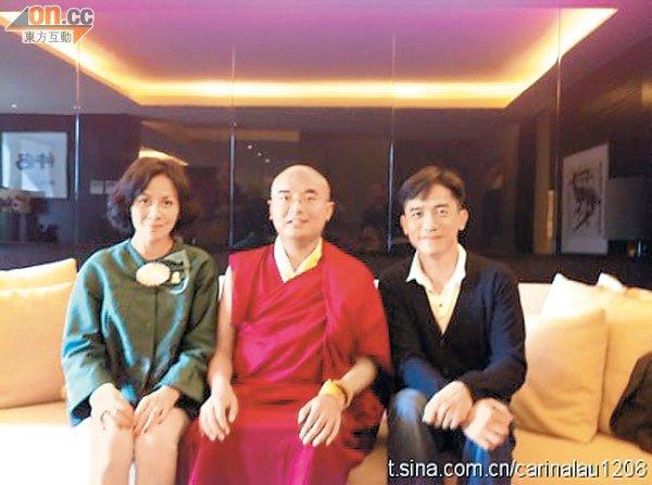 トニーさん、カリーナ、チベット仏教の高僧