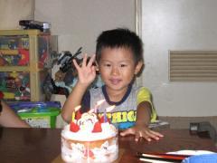 夏休み(ちかと誕生日3歳)