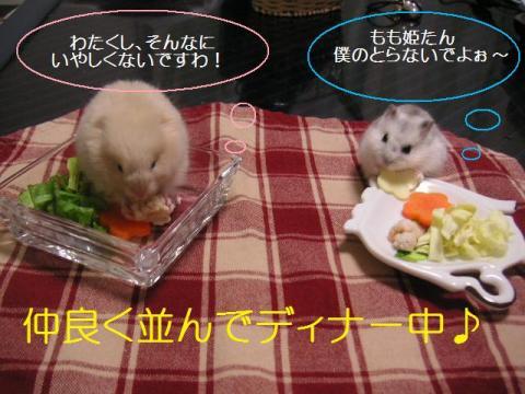 仲良くディナー♪