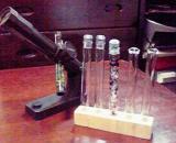投影機と試験管