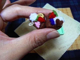 ハートのチョコレートケーキ2種-2
