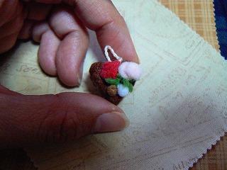ハートのチョコレートケーキ(バラ)