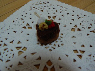 ハートのチョコケーキ
