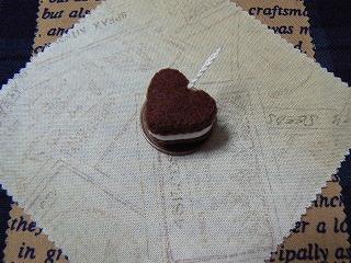 チョコレートケーキ(ハート)試作