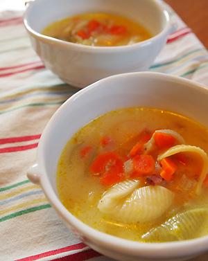 ベーコンと白菜のミルクスープ