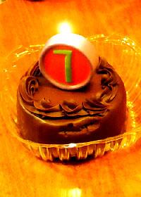 7歳のミニケーキ