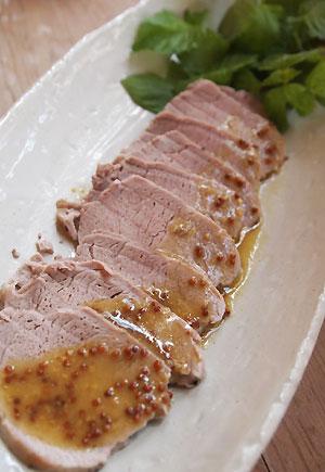 豚ひれ肉のソテー☆マスタードソース
