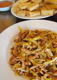 豚肉と黄にらの炒め物