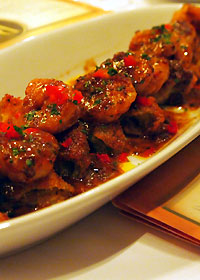 海老となすの前菜