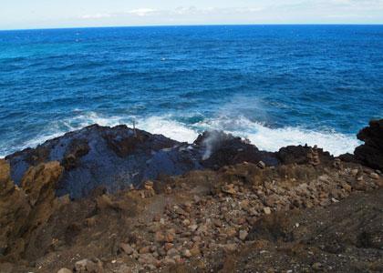 潮吹き岩(blo hole)