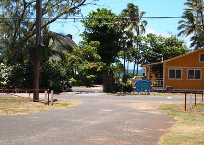 キャンプサイト:海側
