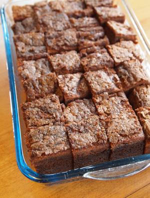 チョコレートもち粉ケーキ