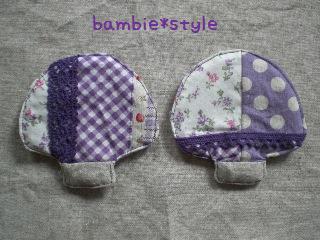 きのこコースター(紫)