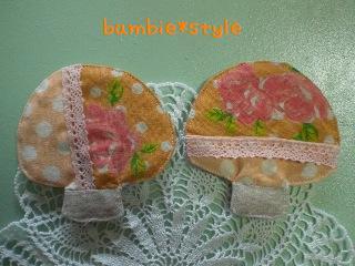 きのこコースター(橙)