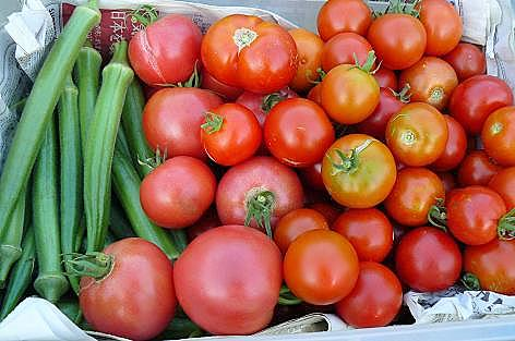 オクラとトマト♪