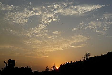 上段からの夕陽♪