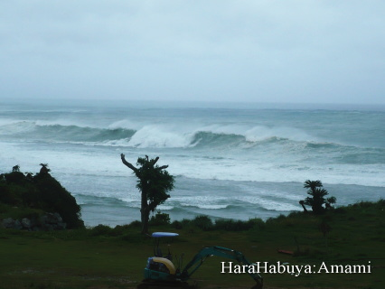 台風18号目前!