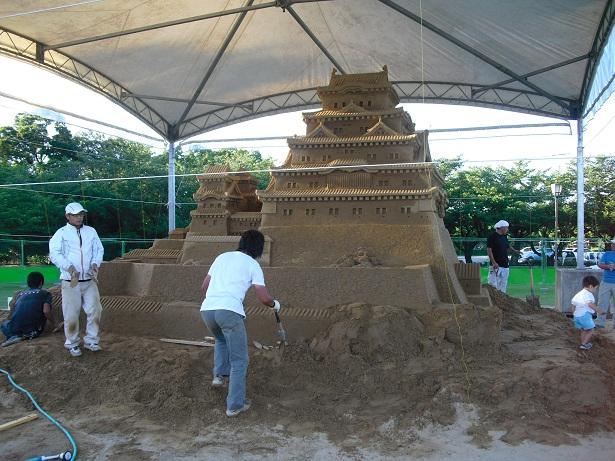 平成22年7月20日砂の姫路城1