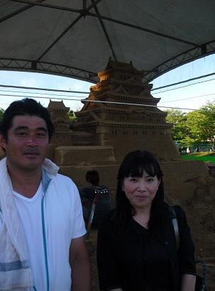 平成22年7月20日砂の姫路城 前田さん